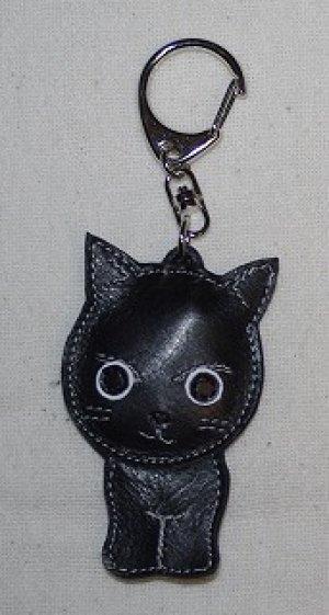 画像1: キーホルダー・黒ねこ