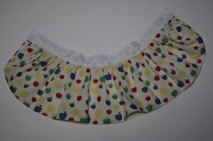 画像1: カラフルりんごのフリふわスカート(6つボタン)