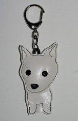 キーホルダー・柴犬・白